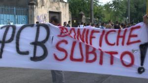 Manifestazione per chiedere le bonifiche, Brescia 2013 - foto Rosy Battaglia