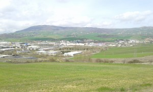 Veduta dall'alto dell'area dell'ex Liquichimica