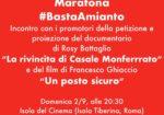 Maratona contro l'amianto all'Isola del Cinema di Roma con La rivincita di Casale Monferrato e Un posto sicuro #bastaAmianto